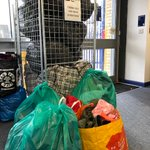 Image for the Tweet beginning: 5 bags of coat donations