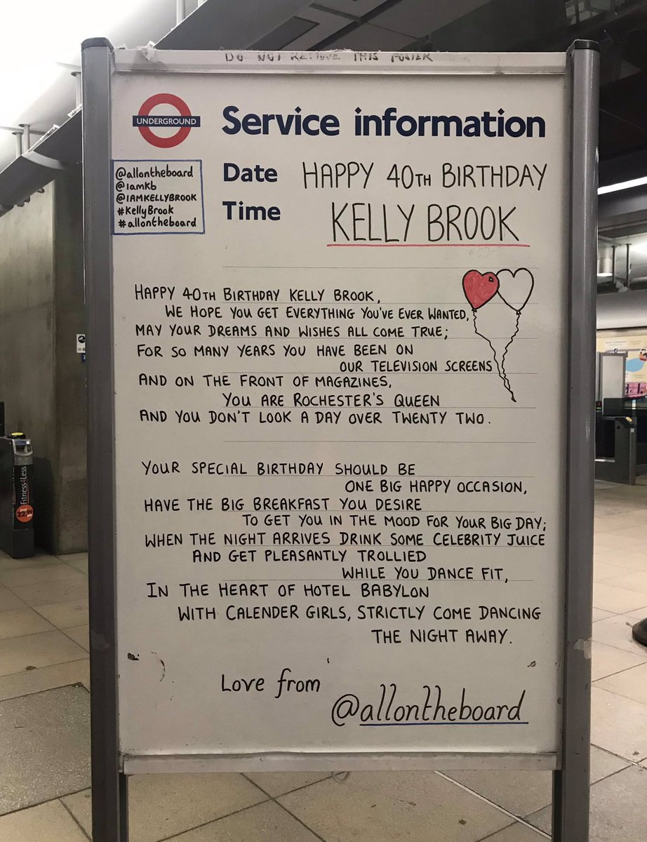 Happy 40th Birthday Kelly Brook. Hope you have a wonderful day and may all of your dreams and wishes come true. @allontheboard 🎂🎈 #KellyBrook #HappyBirthday @IAMKELLYBROOK #Birthday #OnThisDay @thisisheart #allontheboard
