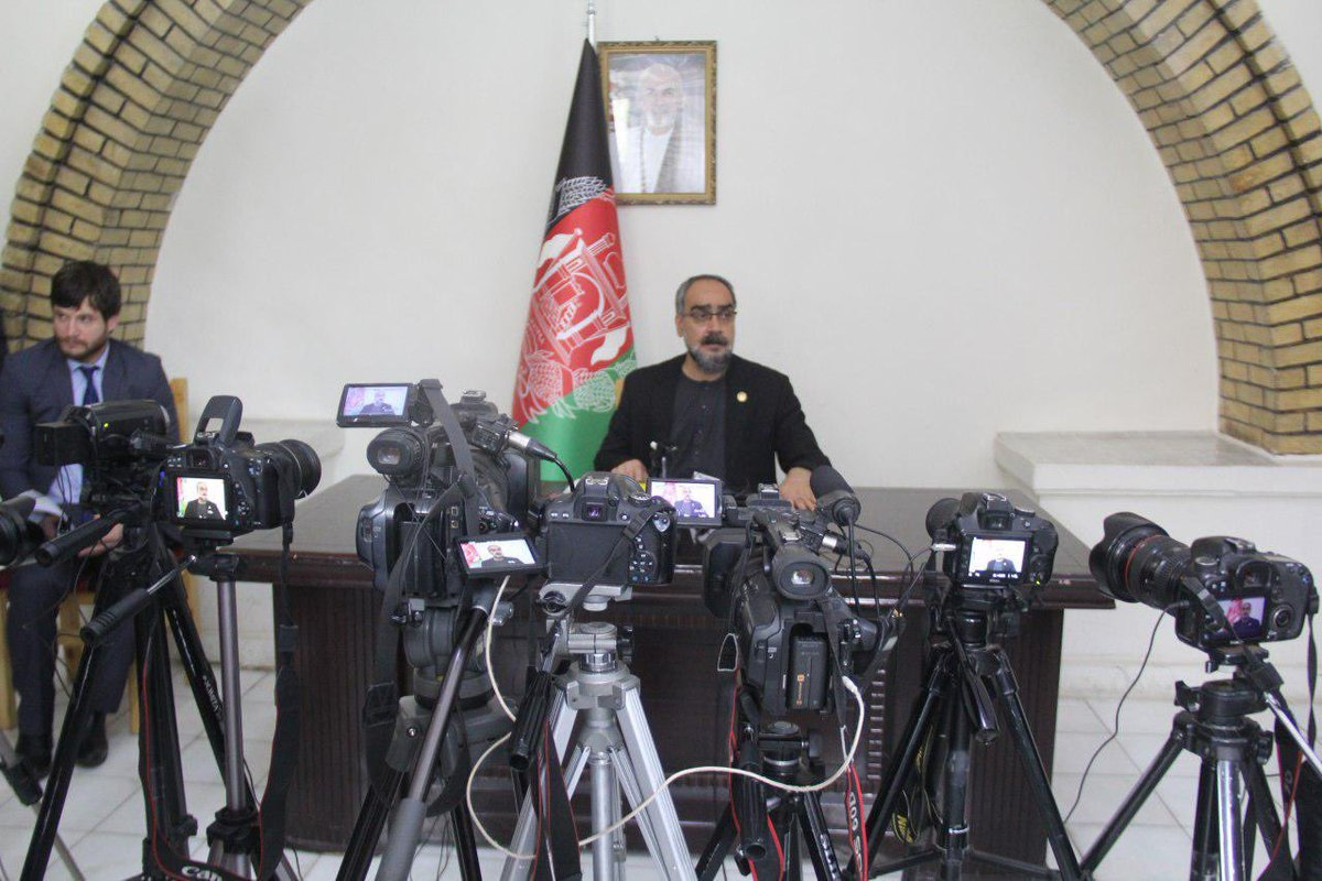 Today in a press conference, I announced fighting against corruption, bringing reform, strengthening Herat electricity, attention to reconstruction and safeguarding historical monuments, improving urban disciplines & supporting ANDSF as the work priorities of Herat Governor's ofz <br>http://pic.twitter.com/GYrAUGah7P