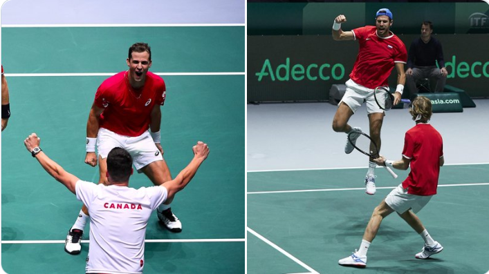 Russia - Canada 1-1  Who will be in the FINAL ?  Rublev/Khachanov vs Pospisil/Shapovalov  Free online streaming  without ads http:// ovb.im/61691       #DavisCup #byRakuten #Tennis #tenis #RUSCAN #GOCANADA<br>http://pic.twitter.com/2swadVJAle
