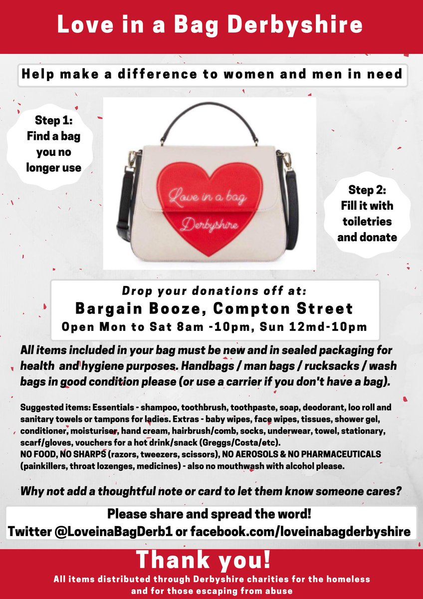 @LoveinaBagBedf1 Many thanks to Michelle at Bargain Booze for supporting this and acting as a drop off point 👍🙏