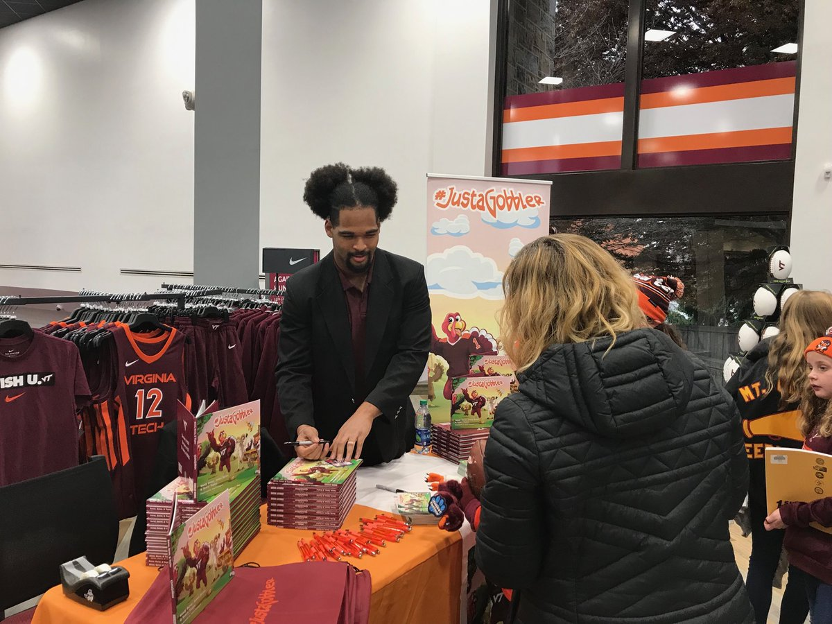 Virginia Tech Hokie Shop On Twitter Meet Woody Baron And Get Your Signed Copy Of Justagobbler At The Virginia Tech University Bookstore Today Until 3pm Https T Co 07dtvz1x02