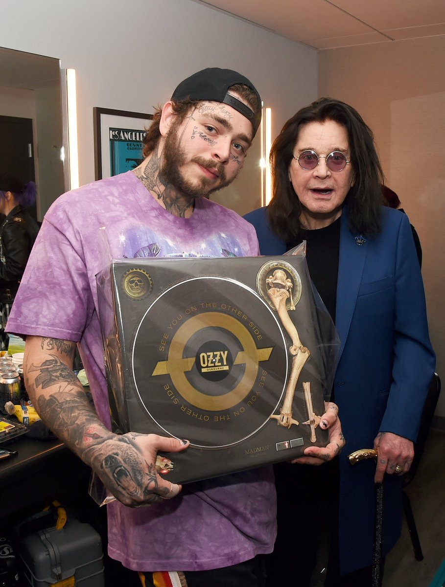 """Did you pre-order your 'See You On The Other Side"""" Vinyl Box set yet? It's released on Black Friday! @PostMalone has his! Order now at ozzyosbournemusic.shop.musictoday.com/product/Y4LPOZ… 📷: Kevin Winter"""