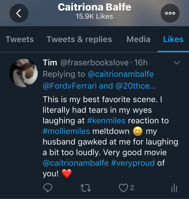 I woke up to this. My ❤️ is so full... seriously. My very first like from #CaitrionaBalfe and it had a spelling error. 😊 but it's ok. I am just so so happy for my first like from her! 🙄 I hope I am not being overly dramatic lol 😆
