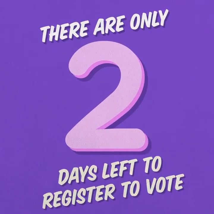The power to change things is in your vote. You have two days left to register to vote. Do it today. gov.uk/register-to-vo…