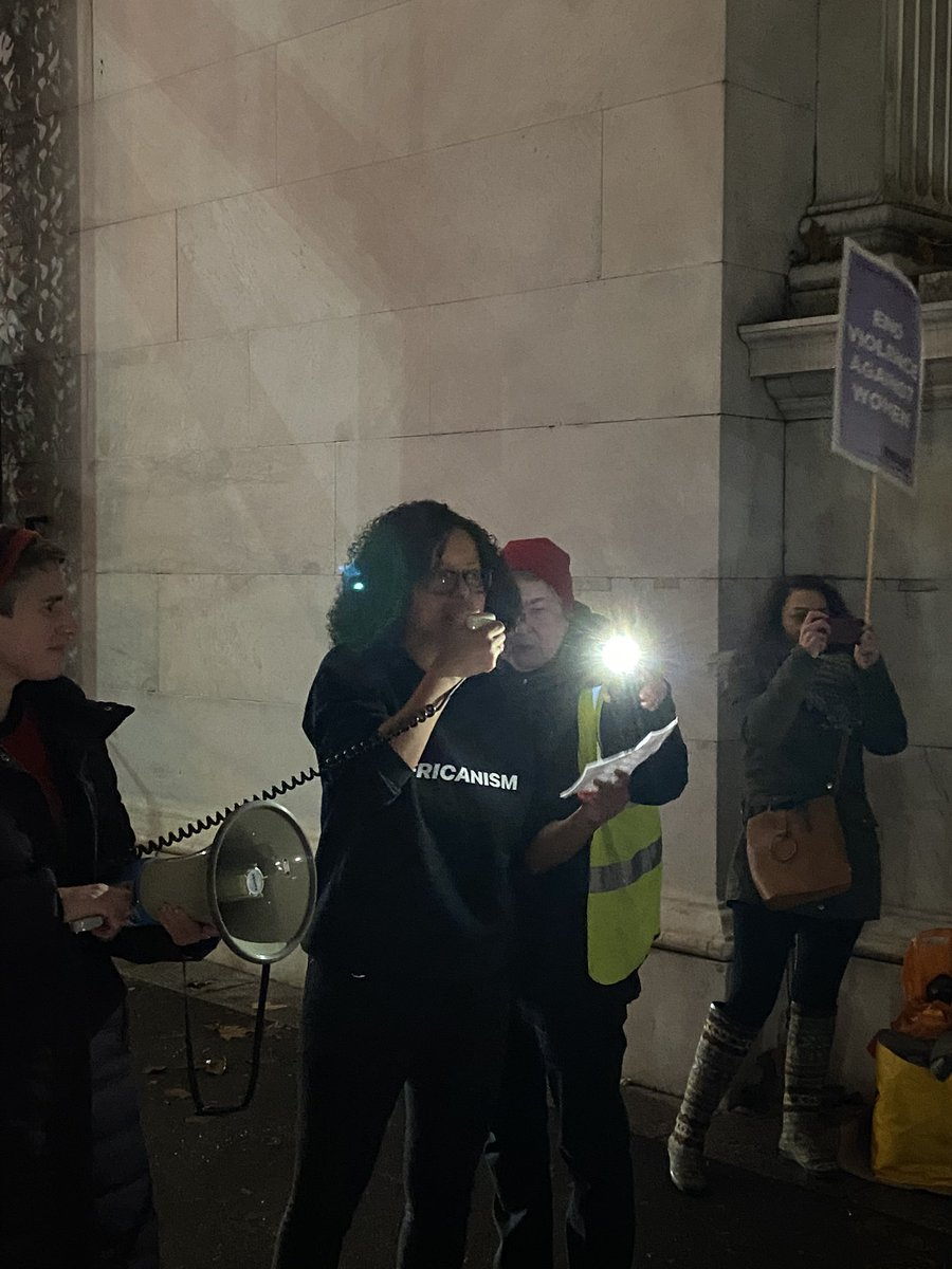 ".@ManduReid speaking at Reclaim the Night. ""We will rebel and against the inequality and injustice that causes male violence against women and girls and allows it to thrive. Inequality, injustice, violence… none of these things are inevitable."""