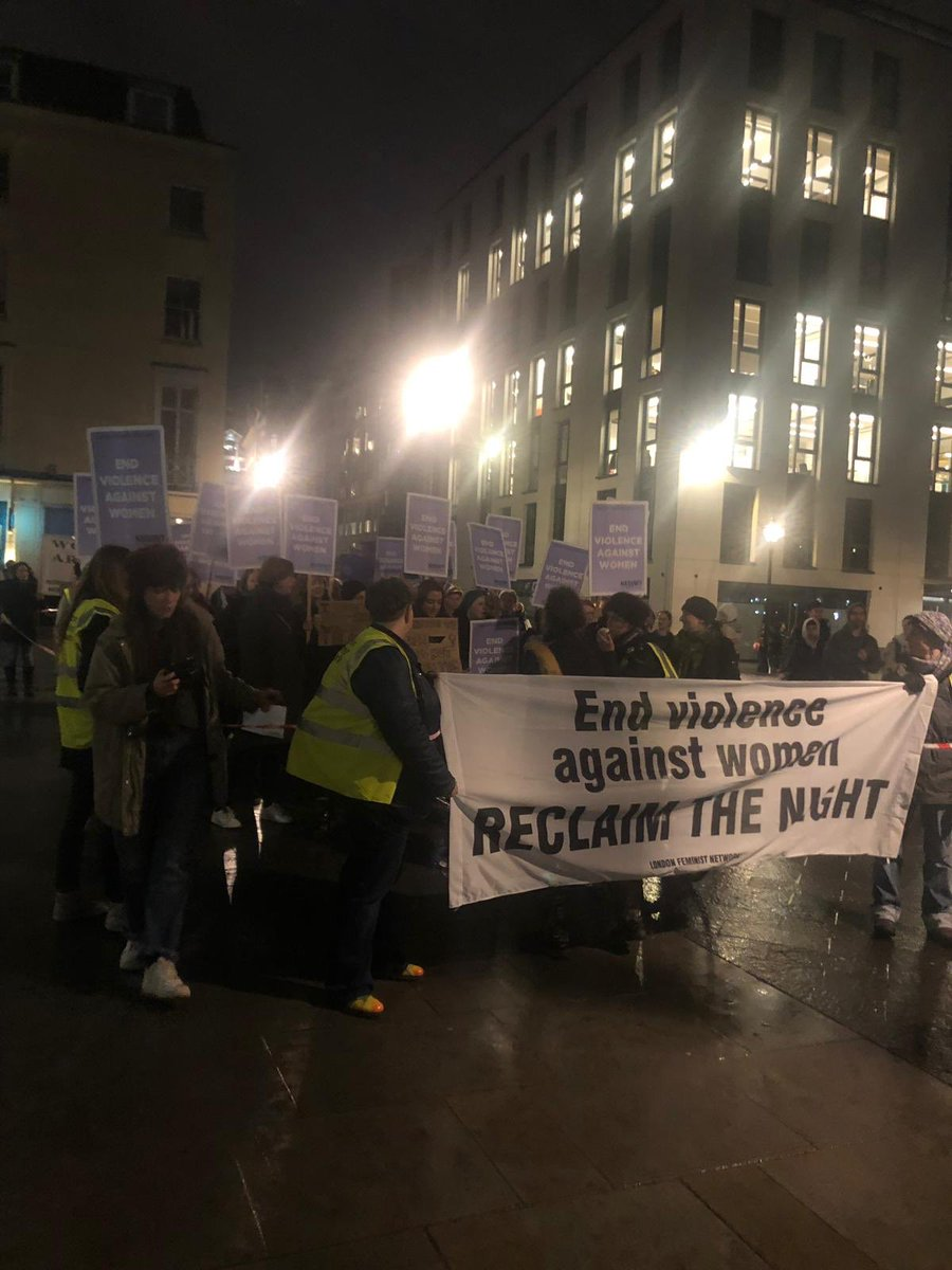 """Women united will never be defeated"". WE are out reclaiming the night tonight and every night, because we cannot hope to have equality until we are free #ReclaimtheNightLondon @RtnLondon"