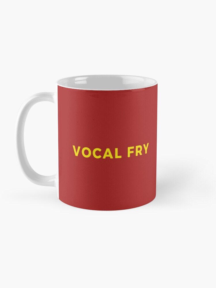 We are introducing some merch before the biggest shopping weekend of the year. First up is this salty mug!   Let everyone know how much you love #VocalFry while you caffeinate.    https://www. redbubble.com/people/vocalfr iespod/works/42708828-vocal-fry-mug?p=mug&style=standard&asc=u  … <br>http://pic.twitter.com/hztaXqGsUx