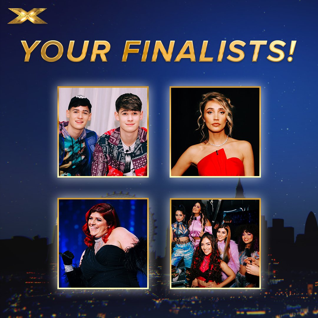 RT @TheXFactor: Ladies and gents, please give it up for your #XFactorCelebrity Finalists! 🤩 #XFactor https://t.co/annbn16YTn
