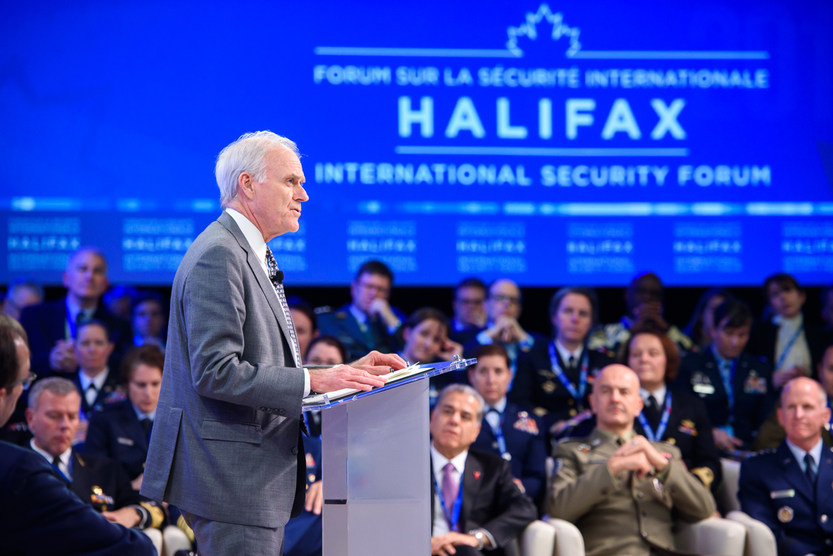 IN PICTURES: Halifax Address featuring @secnav76 @USNavy Richard V. Spencer. #HISF2019 https://t.co/SOS3nEwVAU