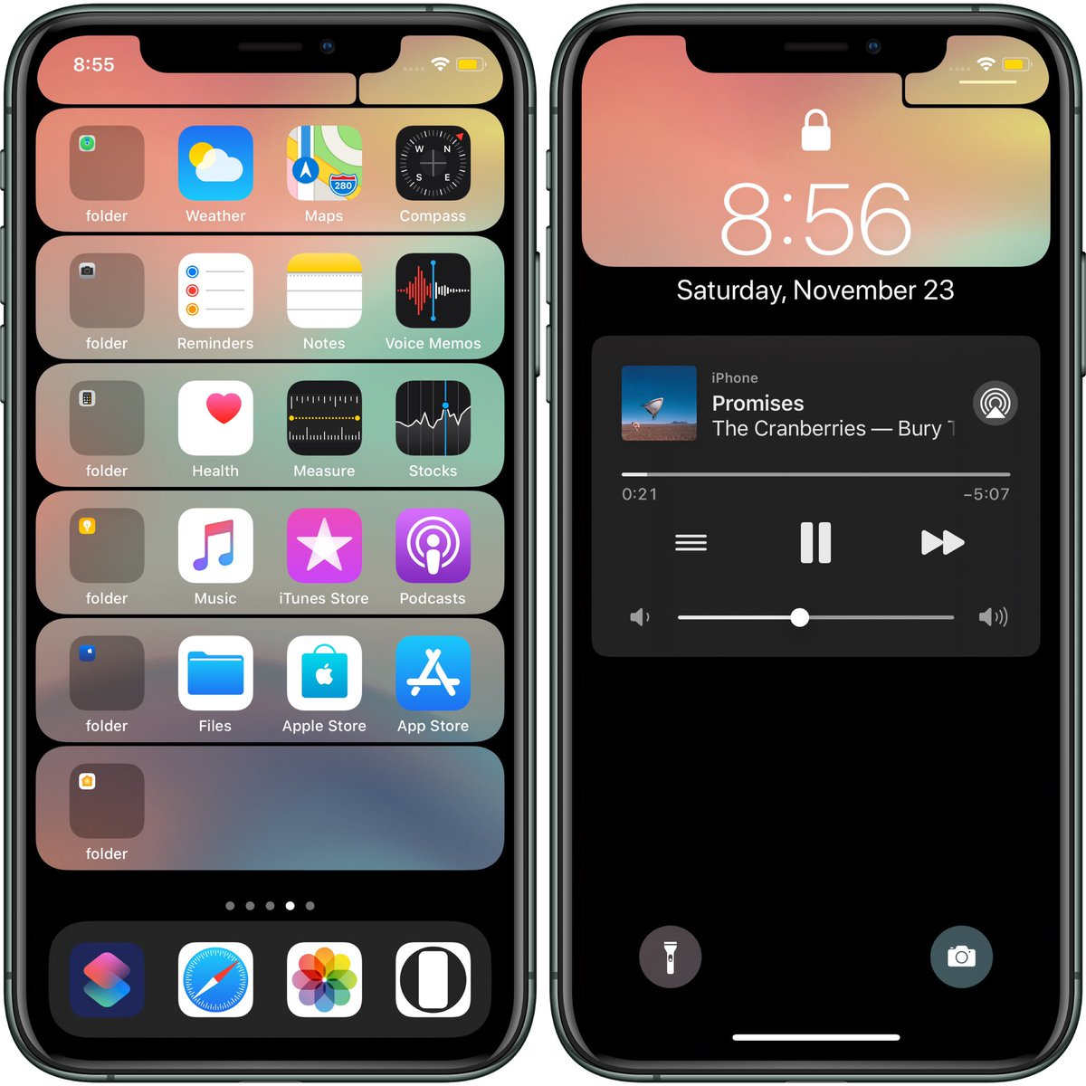 Hide Mysterious Iphone Wallpaper 不思議なiphone壁紙 ベゼルの棚壁をios 13 2に対応させました The Bezel Shelf Wallpaper Is Now Available On Ios 13 2 T Co Qnyalqu1jy