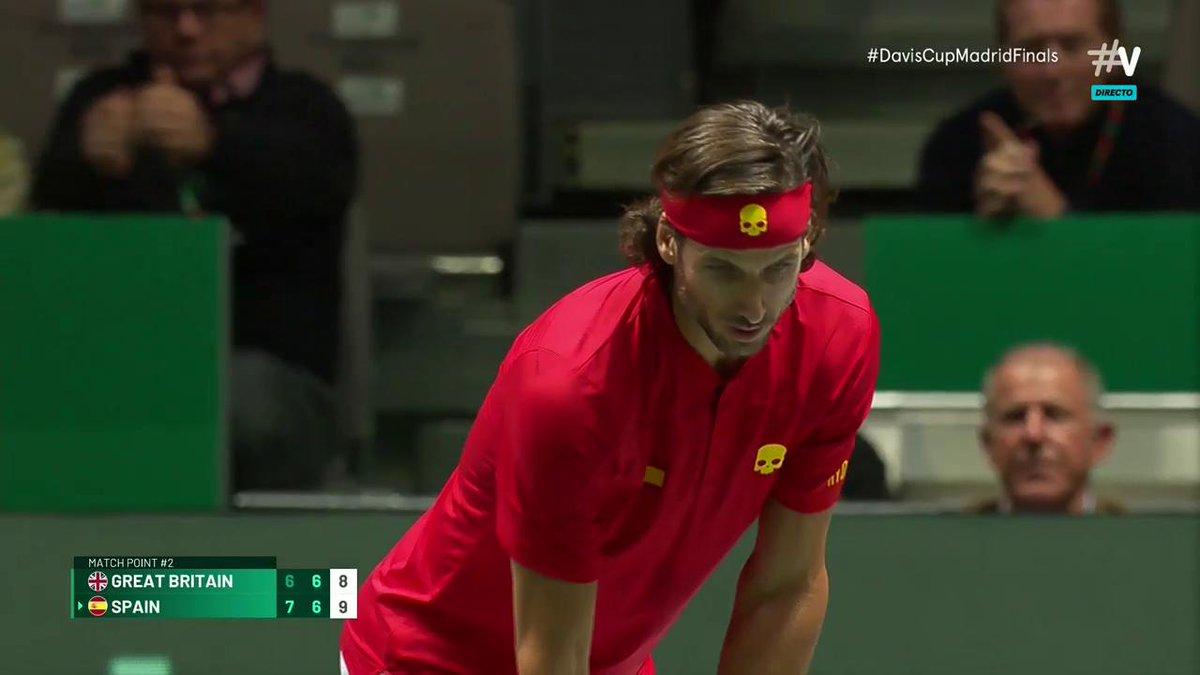 ¡¡Final!! España está en la final de la #DavisCupMadridFinals tras un legendario tie-break.
