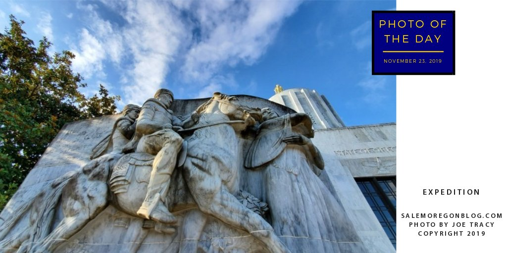 Photo of the Day - Expedition. Lewis and Clark marble sculpture outside of the Oregon State Capitol in Salem, Oregon. https://soo.nr/TeOO #salem #salemoregon #lewisandclark #marblesculpture #oregonstatecapitol #oregoncapitolpic.twitter.com/ylGdpTJefO