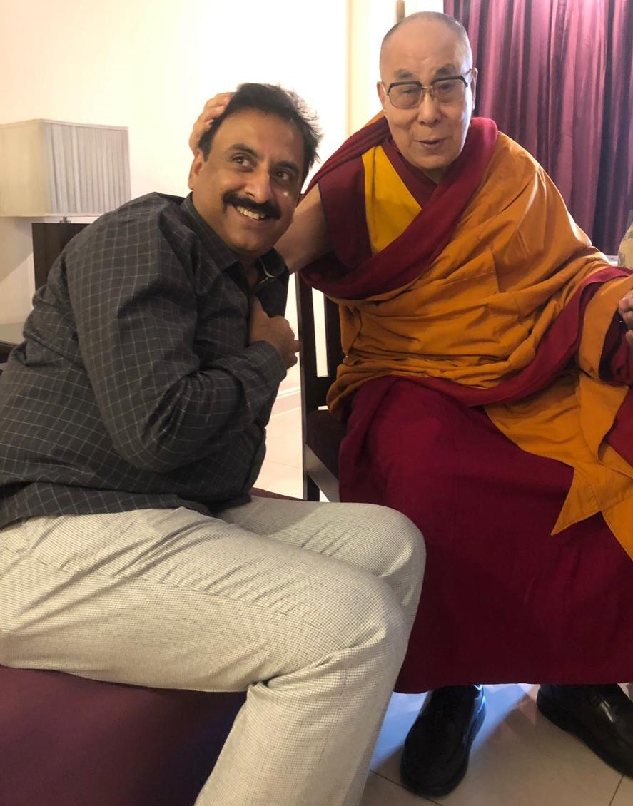 An honour to meet Nobel peace prize winner & spiritual guru Dalai Lama at Aurangabad while on his visit to Global Buddhist meet. He told me that India is emerging as a major centre of Buddhism and that he felt good visiting the city. He blessed me for my future.Thanks Dalai Lama.
