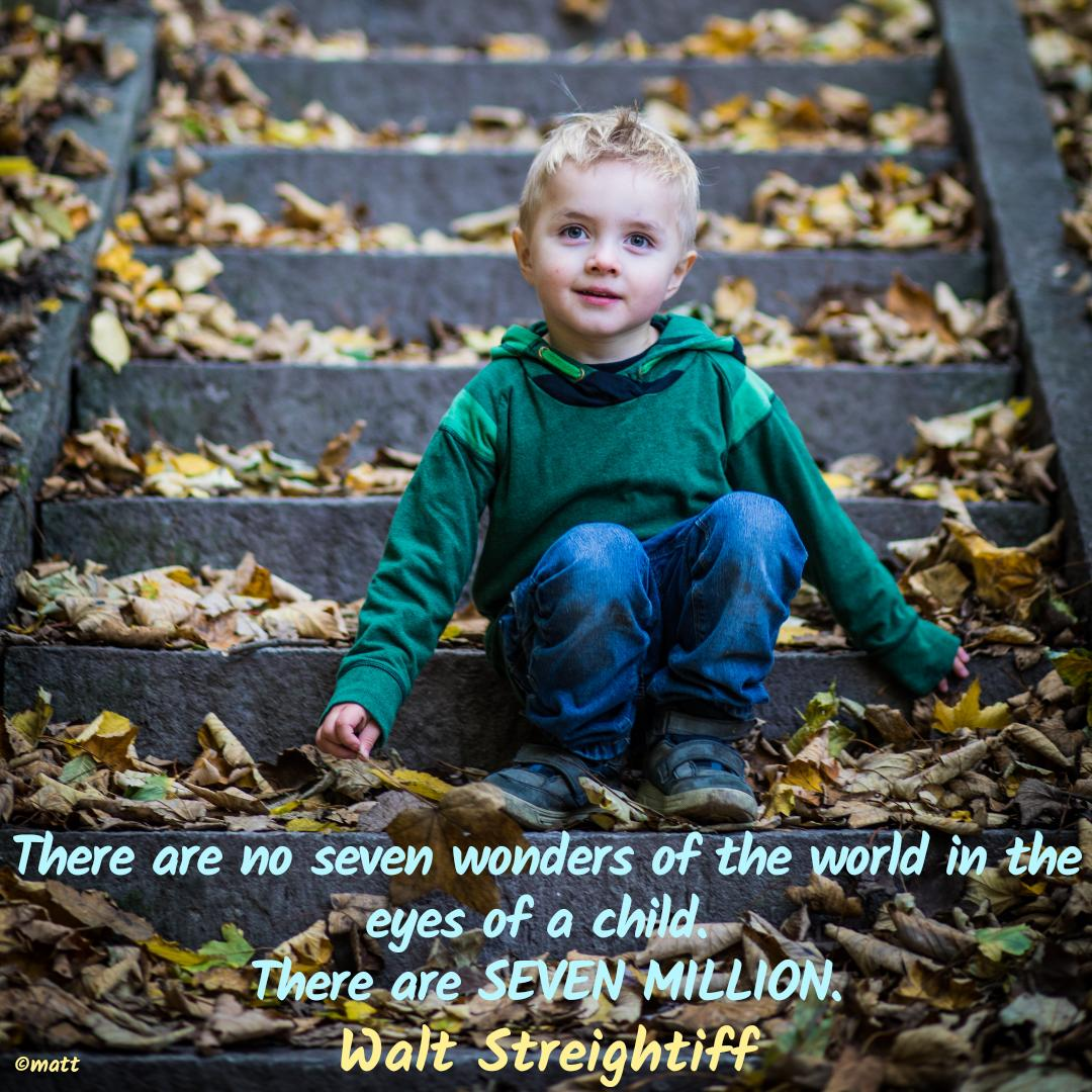 There are no seven #wonders of the world in the eyes of a #child.  There are SEVEN MILLION. #WaltStreightiff   #ProLife @prolifeaussies @Irishprolifer @ProLifeRosary #beautyoflife #catholic @cbcimedia @Bishopoftyler @JesusYouthIndia @DinoRajPaul1 @LifeMedLove @AlberioneProj