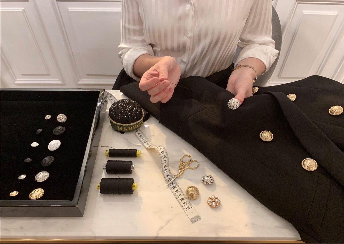 POP-UP | Personalise your new AW19 jackets at the @Balmain Button Bar, where you can choose from seven unique buttons to make your pieces your own. Superbrands, First Floor. on.harrods.com/2O636CM #Harrods