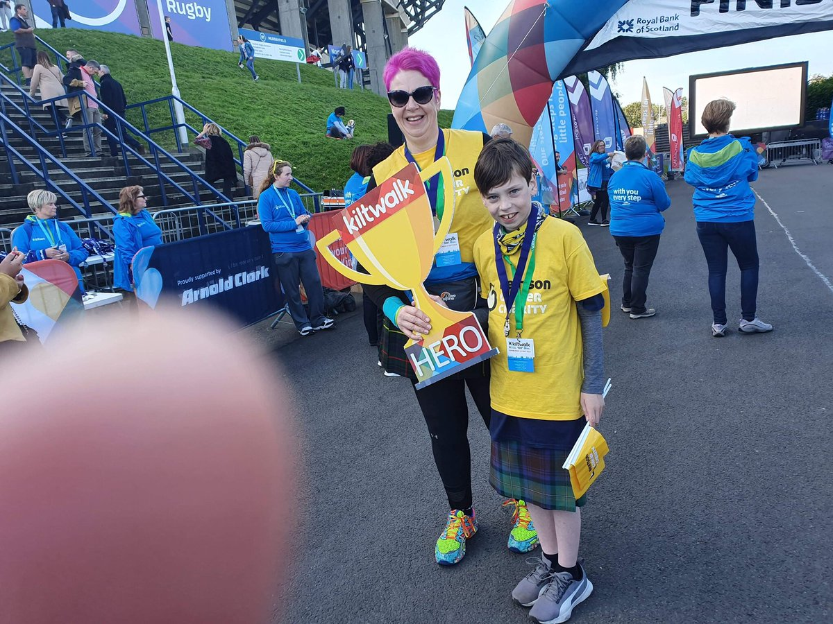 @dandydon1980 @Beatson_Charity @thekiltwalk @riversidemuseum Well done everybody, myself and junior can't make it as hubby not well but delighted that we raised £1979.74 and thank you to @SirTomhunter for the additional 40% that will be added on taking us over the 2K #kiltwalk