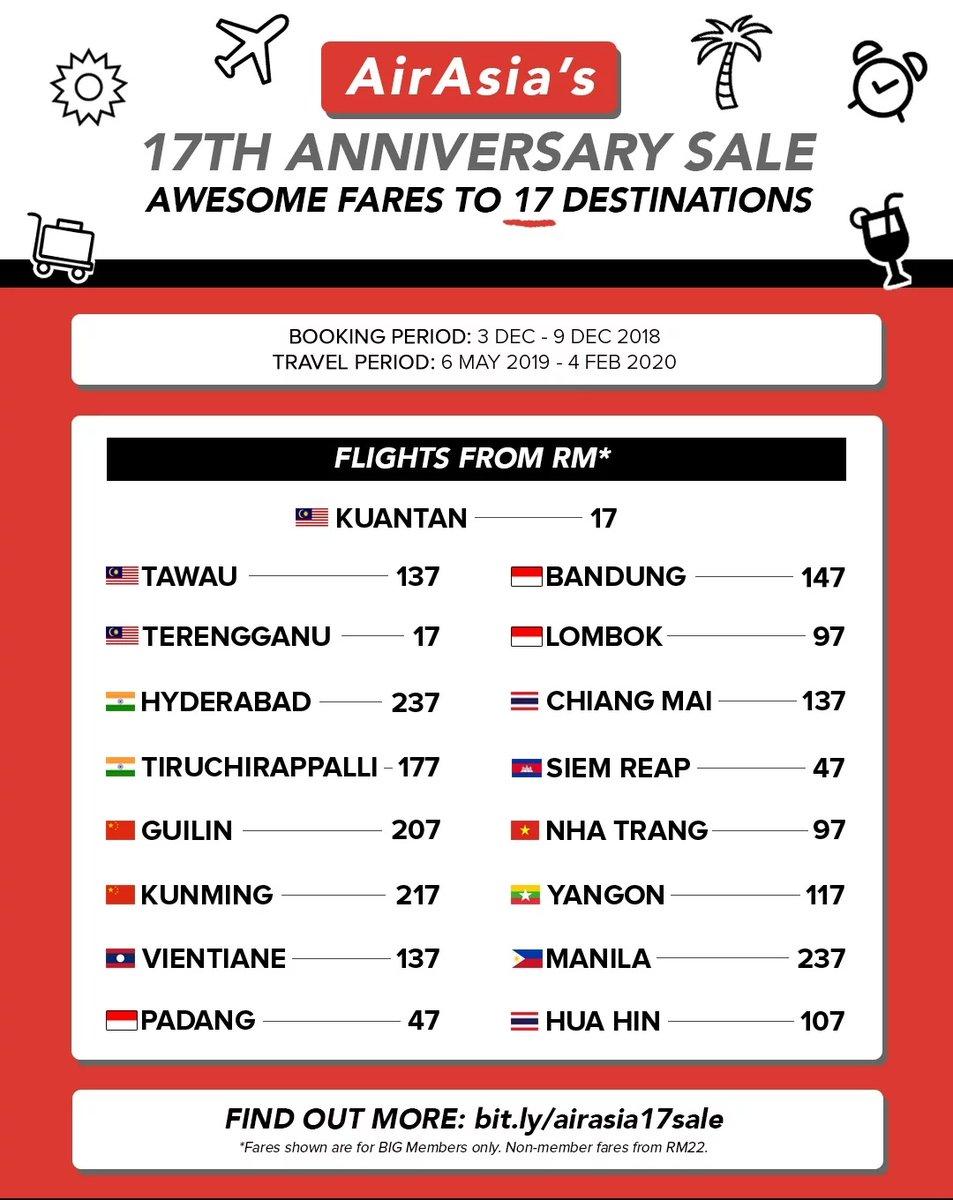 Senarai Harga Tiket Air Asia