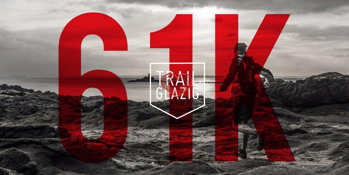 Le #trail Glazig 61K est déjà complet ! Il ne reste plus que quelques places sur le Noz Trail 19K et le Trail 12K. #sports #running #Bretagne
