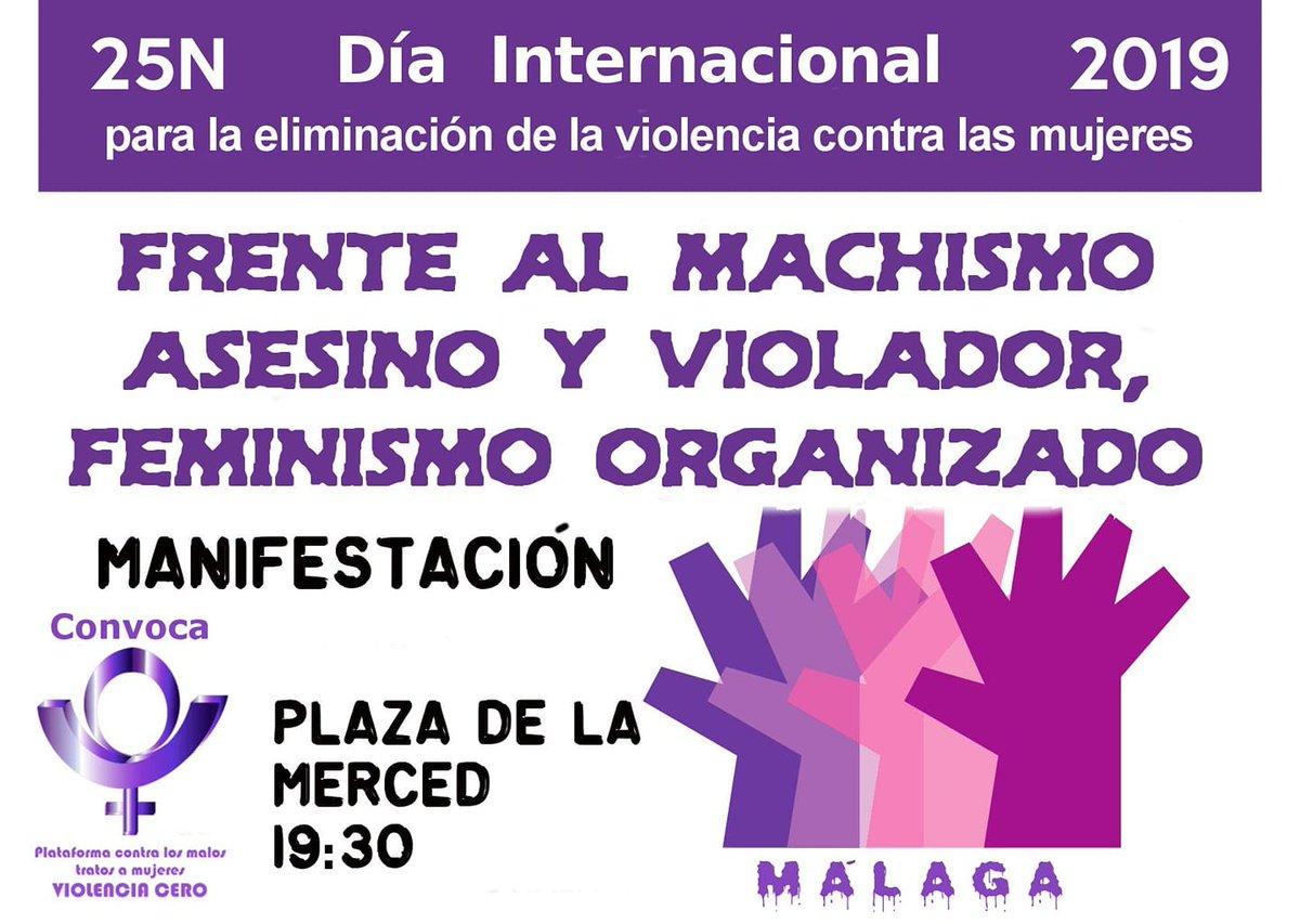Resultado de imagen de manifestación contra la violencia machista Málaga 25N 2019