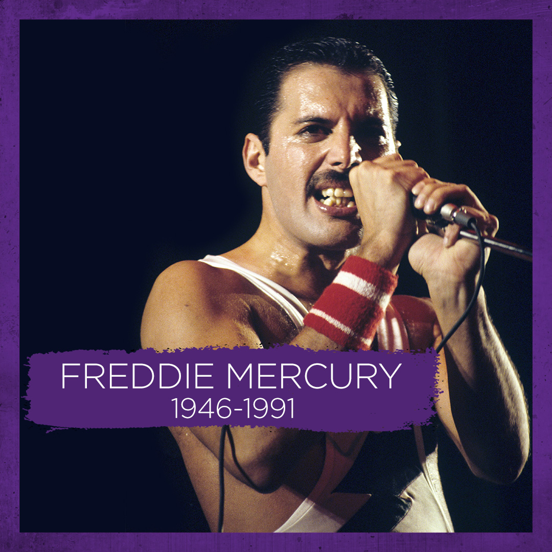 What would the 80s be without Queen? Today we take a moment to remember the sad passing of Freddie Mercury, a music icon forever 💜