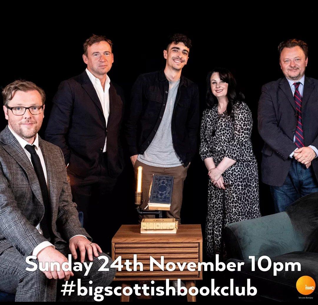 Tonight's #bigscottishbookclub is an absolute belter! Starring the talented @MarianKeyes @DavidNWriter @estellecostanza @ChrisMcQueer_ & @Damian_Barr