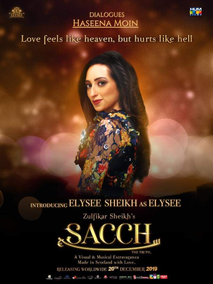 Presenting you the Character poster of #Sacchthemovie featuring Elysee Sheikh as Elysee  The Film Releases Worldwide on the 20th of December  #Lollywoodfilmindustry @SACCHthemovie @elyseesheikh @IAsadZamanKhan   @zulfikar_sheikh @TasminaSheikh @HumFilmspic.twitter.com/713Wt9epGK