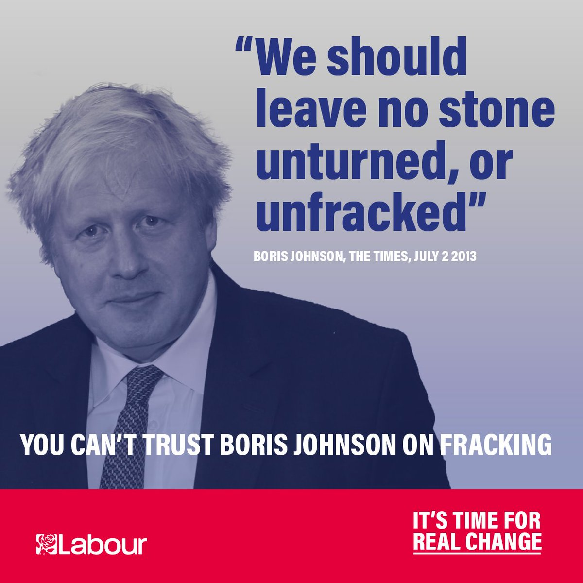 The Tories pushed through fracking - you cant trust them to tackle the climate emergency. Labours Green Industrial Revolution will 🛢️🏞️ Ban fracking 🌊☀️ Create more than a million good, green jobs 🚗🔌 Kickstart an electric vehicle revolution 🏡👷 Insulate 27 million homes