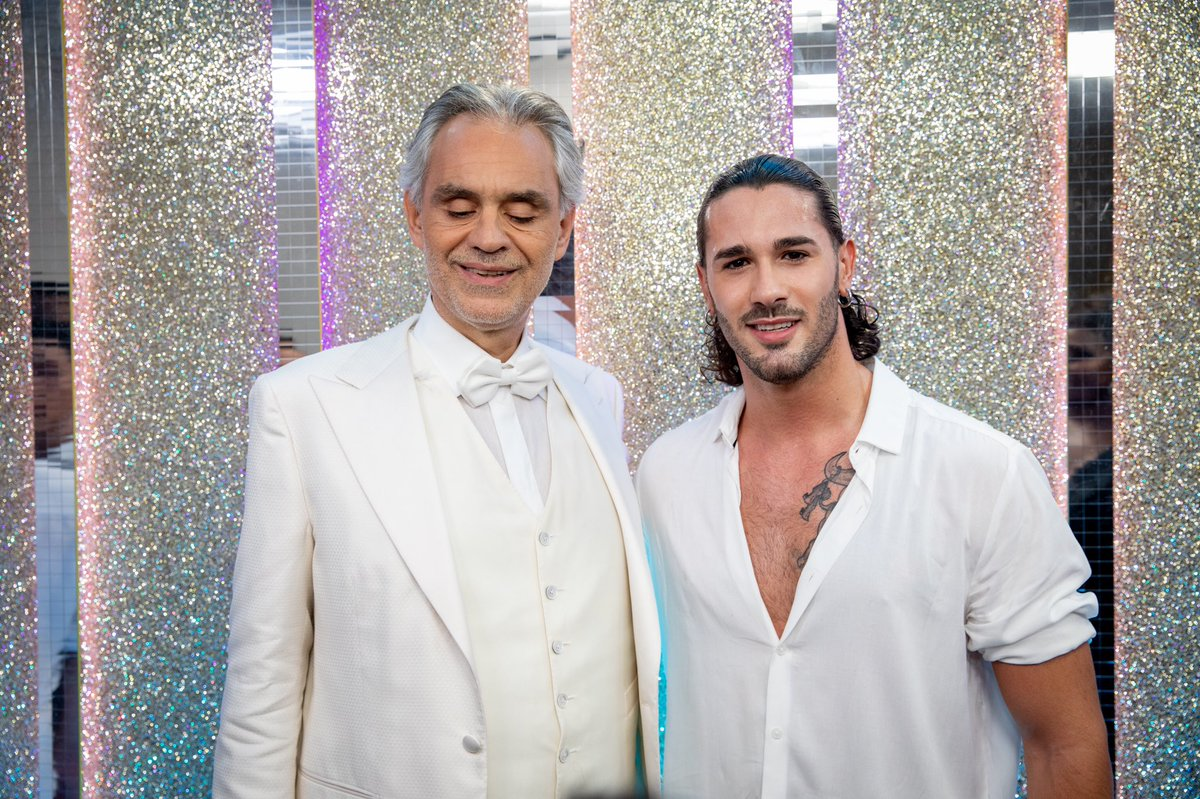 NO WORDS can describe how proud I am to be 🇮🇹 by your side. YOU ARE A TRULY INSPIRATION FOR ME 🙏. @AndreaBocelli Tune tonight at 7.15 pm on @bbcone 📸: @guylevyphotography #andreabocelli #bbcstrictly #strictlycomedancing