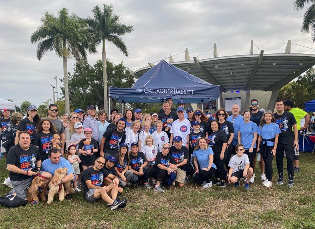 Thank you to all who showed up today to support the @RizzoFoundation 8th Walk Off for Cancer! #GoBeyond #GBGentlebear