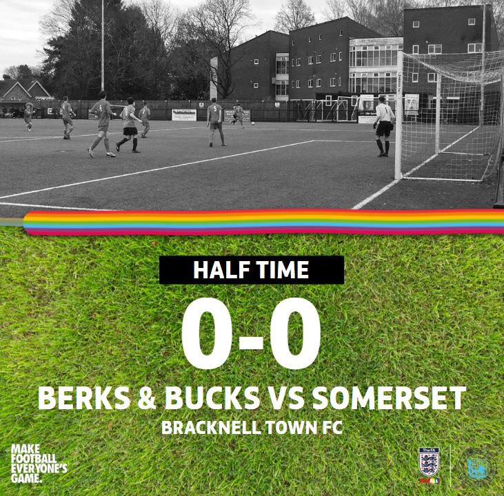 It was even at the break here @BracknellTownFC as the first half finished all square. The teams are back out now big second half to come...