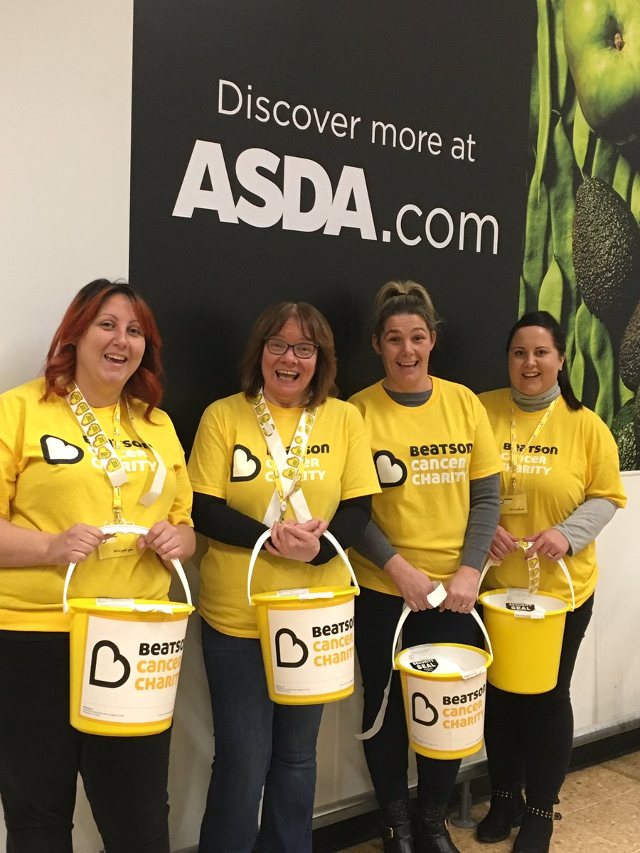Special thanks to staff and shoppers at Asda Blantyre for being so generous today and supporting @Beatson_Charity! We couldn't do it without our fabulous  #volunteers! Thank you! #teambeatson 💛💛💛