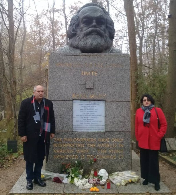 Cuban minister of culture pays tribute to Karl Marx in London