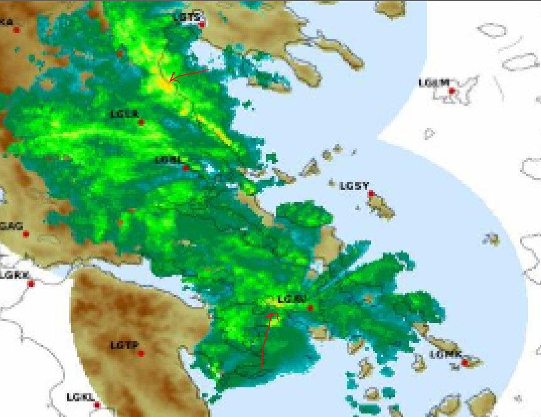 ...δεν είναι όμως πολύ αναπτυγμένες οι καταιγίδες.