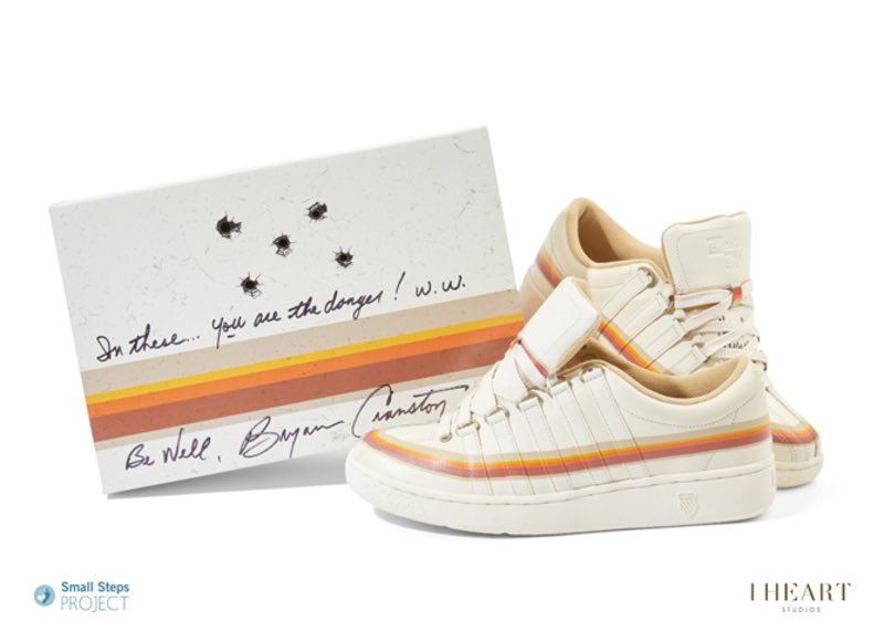 These sneakers - signed by me - could be yours! @SmallStepsDocs provides shoes, emergency aid and education to children who live and scavenge for food on landfill sites. Just go to: smallstepsproject.org/bryan-cranston #CelebrityShoeAuction bit.ly/1WfLBdq Thanks, and good luck!! BC