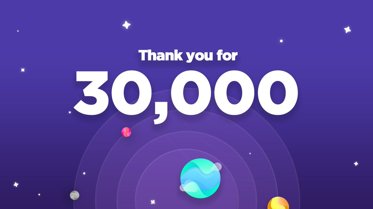 """Thank you for 30,000! 🚀We appreciate every one of you, and it's our chance to give back. As we prepare to announce our restock info, we're giving away 30 invites.You heard that right. Simply retweet, follow and reply with """"🌎"""". You can enter a maximum of 5 times. Open DMs!"""