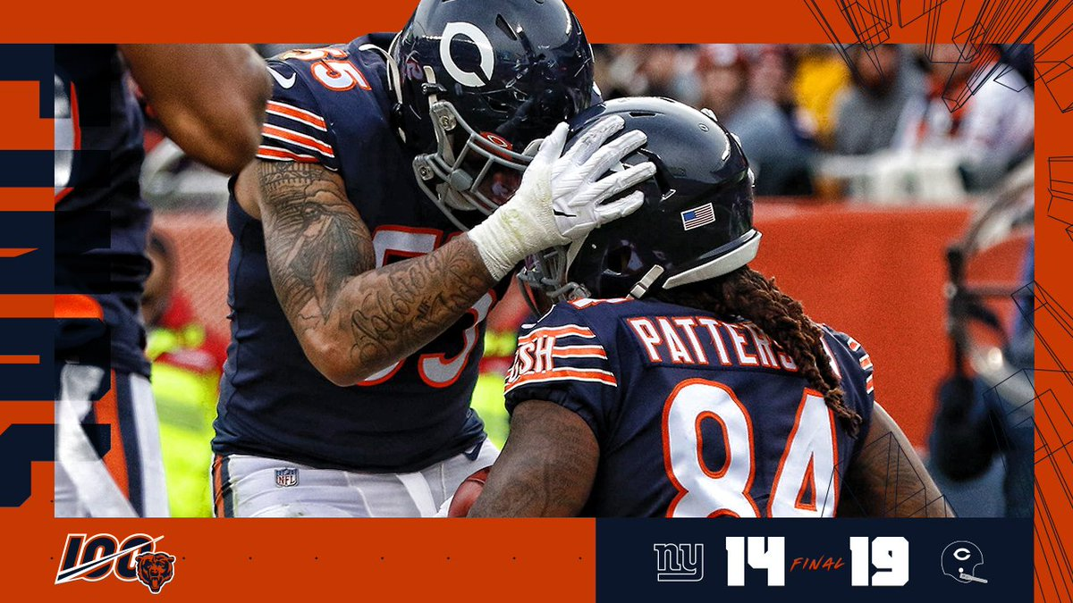 BEARS WIN!  #NYGvsCHI | #Bears100 https://t.co/Ukx8IT6Boc
