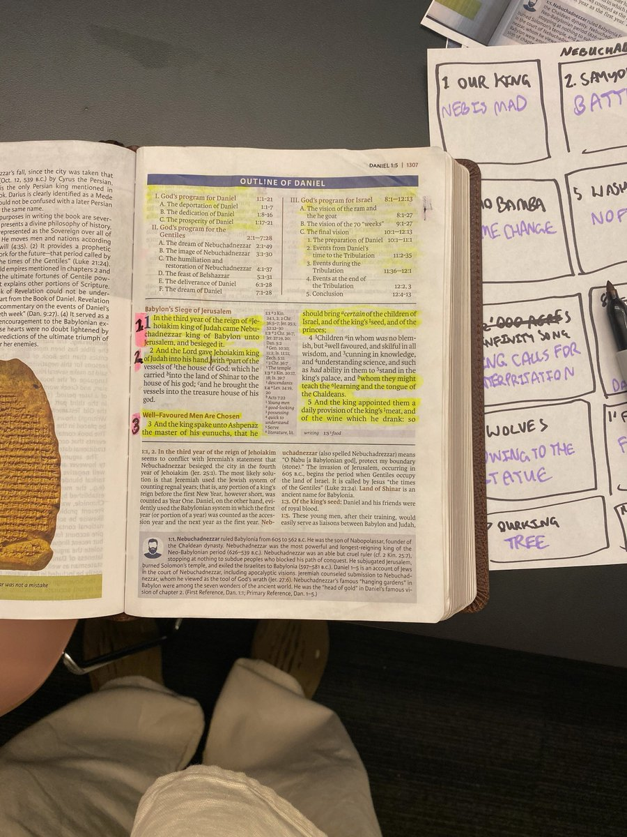 reading from the book of Daniel