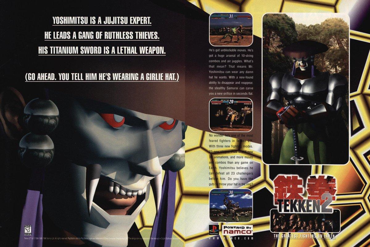 Nba Jam The Book On Twitter 1996 Print Ad For Tekken 2 On The