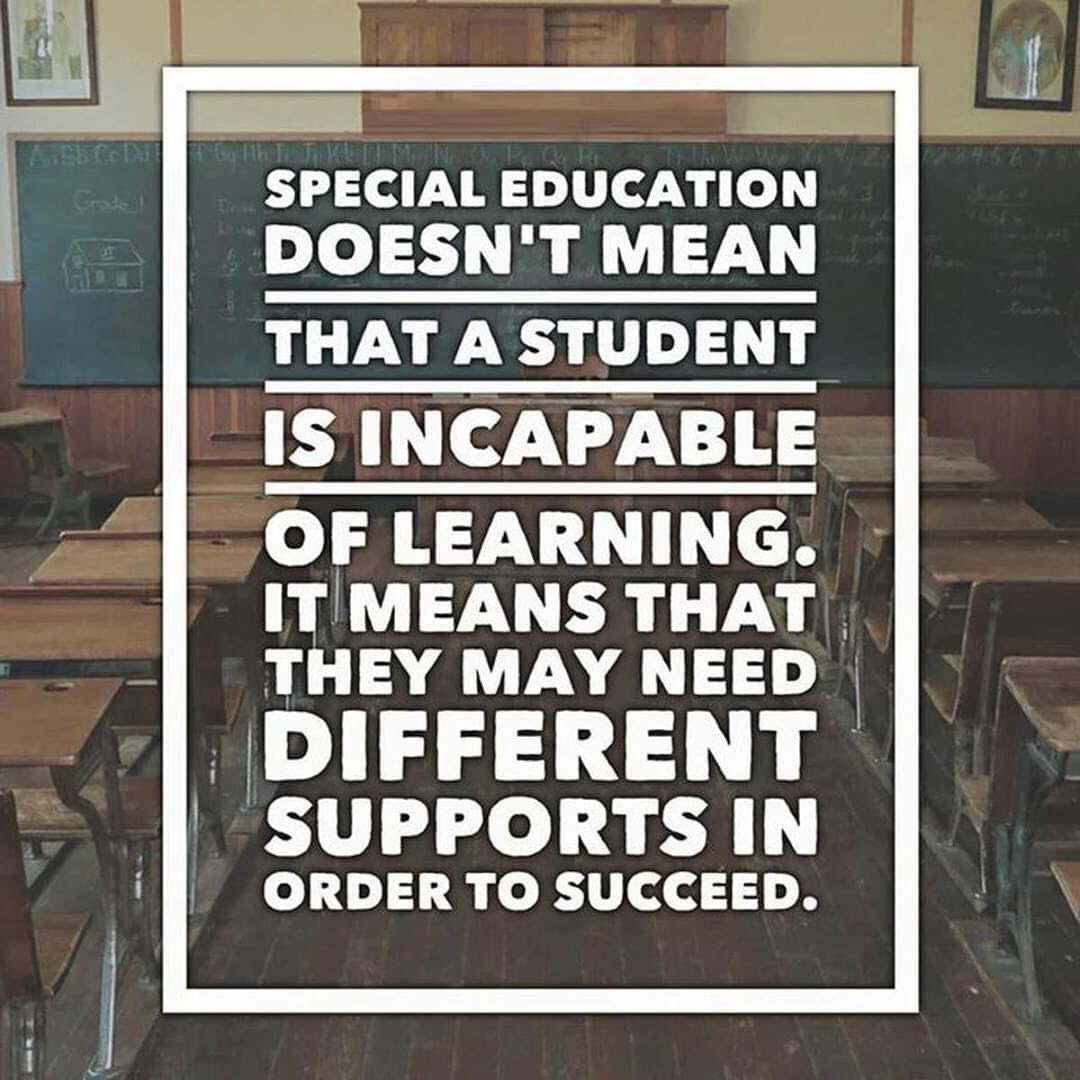 Give students what they need to be successful. Not all students are the same 🙇🏼♀️