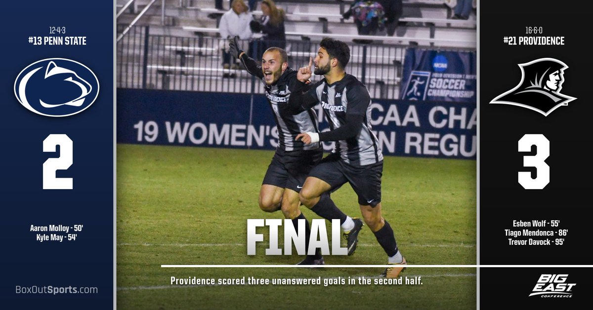 FRIARS WIN❕Providence scores three unanswered to advance to the Sweet 16 backed by Trevor Davocks two assists and game-winner in the 95th minute❕ #GoFriars