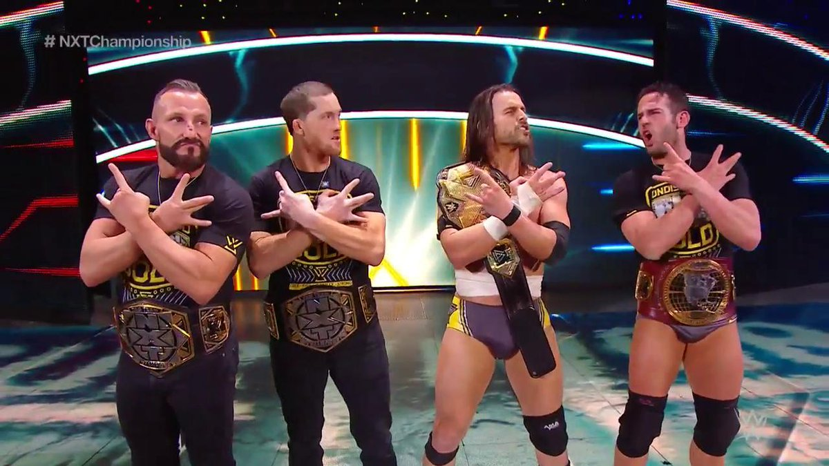 Absolutely incredible...and these guys are STILL very much UNDISPUTED.  @AdamColePro defeats @PeteDunneYxB to remain #WWENXT Champion at #SurvivorSeries! https://t.co/25QueUl8ji