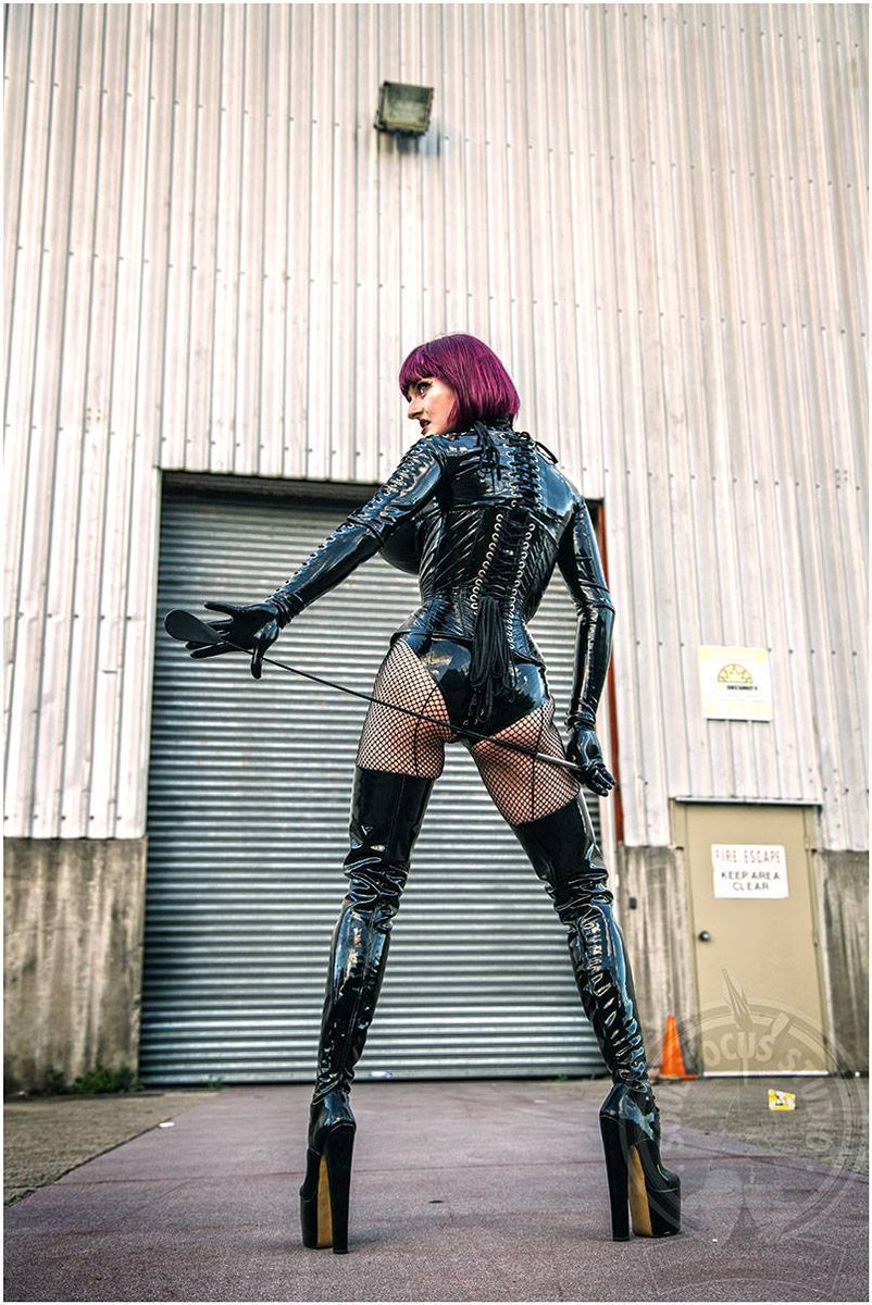 """#picoftheday Check My pic of the day by Soul Focus Studio! I'm wearing My own rubber, corset by Sue Nice & 9"""" lace-up boots by #LittleShoeBox!  #mistresstokyo #soulfocusstudio #fetishphotography #sydneymistress #rubbermistress #littleshoebox #dominatrix"""