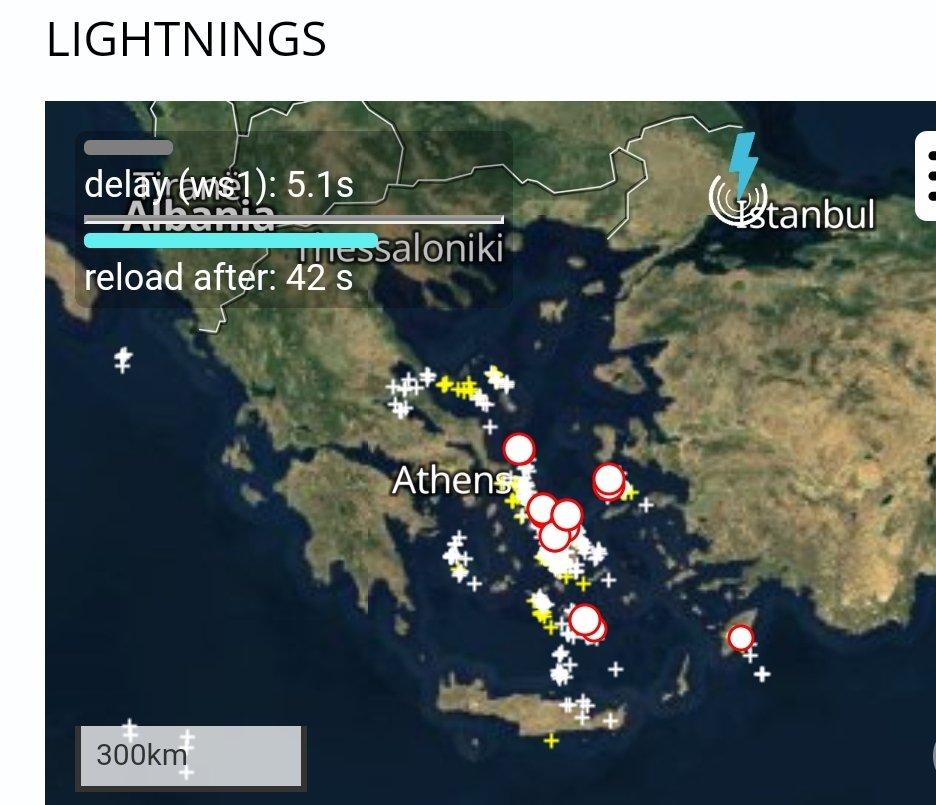 Πέρασε από Αττική και μπήκε κεντρικό κ νότιο Αιγαίο. Τάση ενίσχυσης στα νότια (δεύτερος χαρτης) την επόμενη ώρα και εξασθένηση στα βορειότερα. Πάμε ομαλά στις δουλειές, καλή εβδομάδα