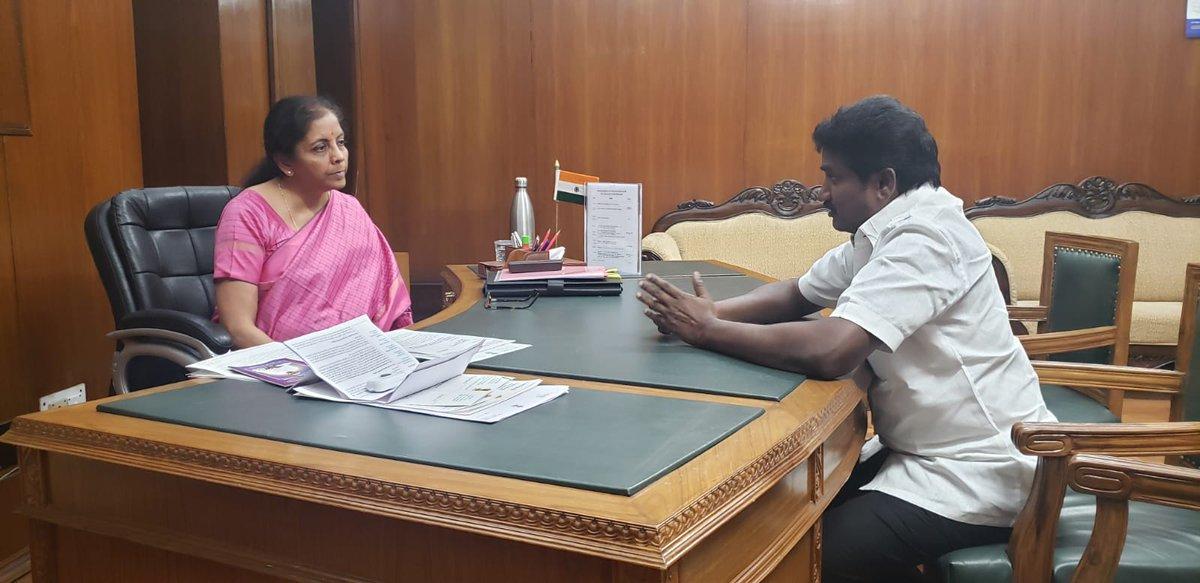 Shri Ganesan Selvam, Honble MP (LS) calls on Smt @nsitharaman