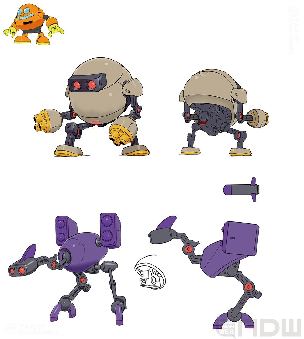Tails Channel Sonic The Hedgehog News Updates Pa Twitter Conceptual Artwork Of Eggman S Robots Sonicnews