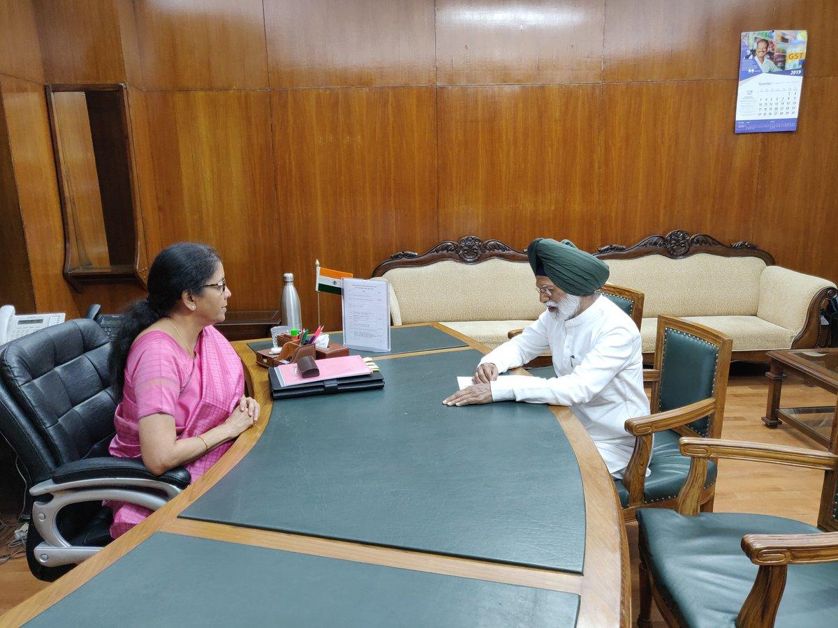 Dr Amar Singh, Honble MP (LS) calls on Smt @nsitharaman