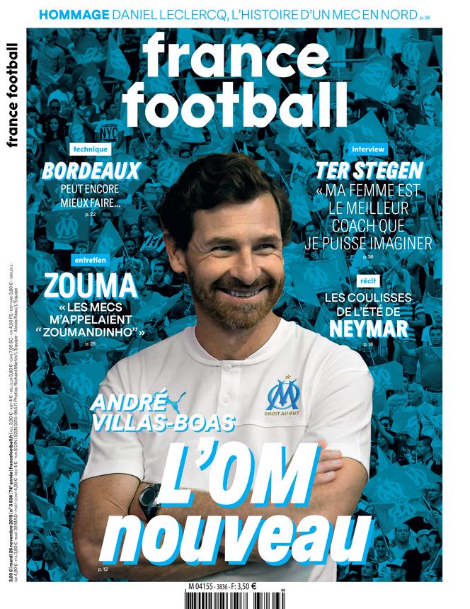 André Villas-Boas, Neymar, Marc-André ter Stegen, Kurt Zouma... Le sommaire du nouveau numéro de France Football : ow.ly/tSGq30pWbuK