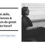Image for the Tweet beginning: What skills, experience & behaviours