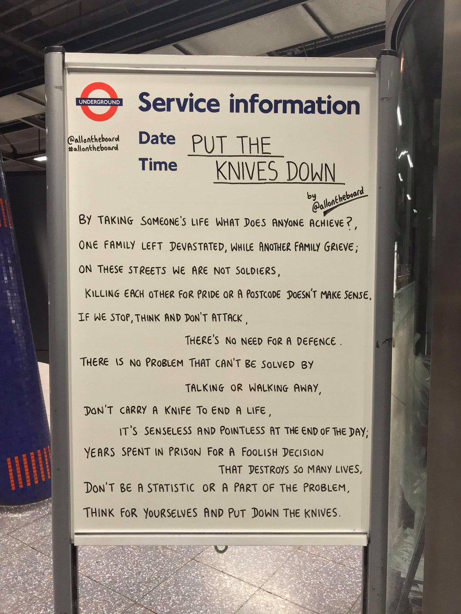 Please put down the knives. Stop the violence and choose life instead. @allontheboard #stopknifecrime #knifecrime #stopviolence #endknifecrime #endviolence #droptheknife #younglivesmatter #chooselife #allontheboard